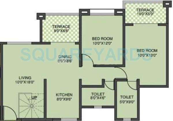 kolte patil margosa heights apartment 2bhk 1390sqft 11706