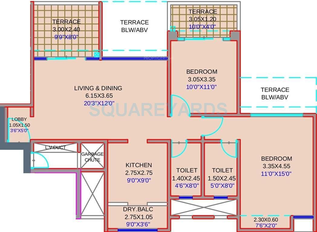 kolte patil stargaze apartment 2bhk 1017sqft1
