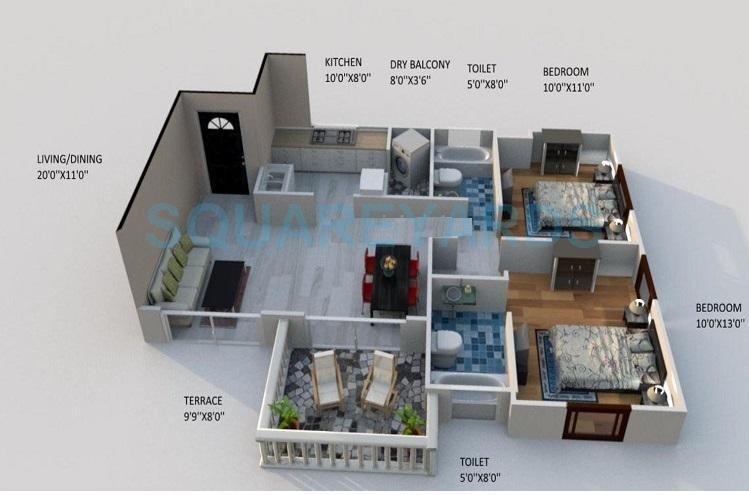 kolte patil stargaze apartment 2bhk 1035sqft1