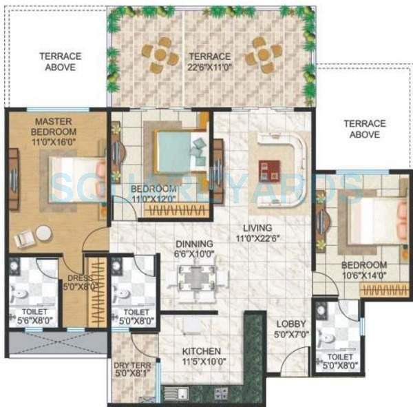 kolte patil tuscan estate apartment 3bhk 1975sqft 11080