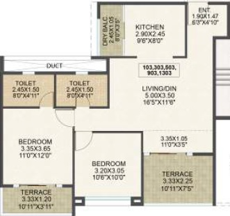 kolte patil western avenue apartment 2bhk 1150sqft 1