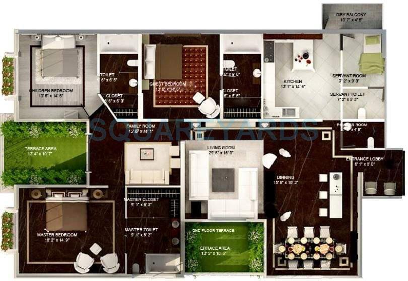 konark the imperial apartment 3bhk 2351sqft 10691