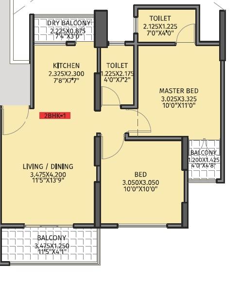 kriasla 41 evoke phase 1 apartment 2 bhk 622sqft 20214003174024