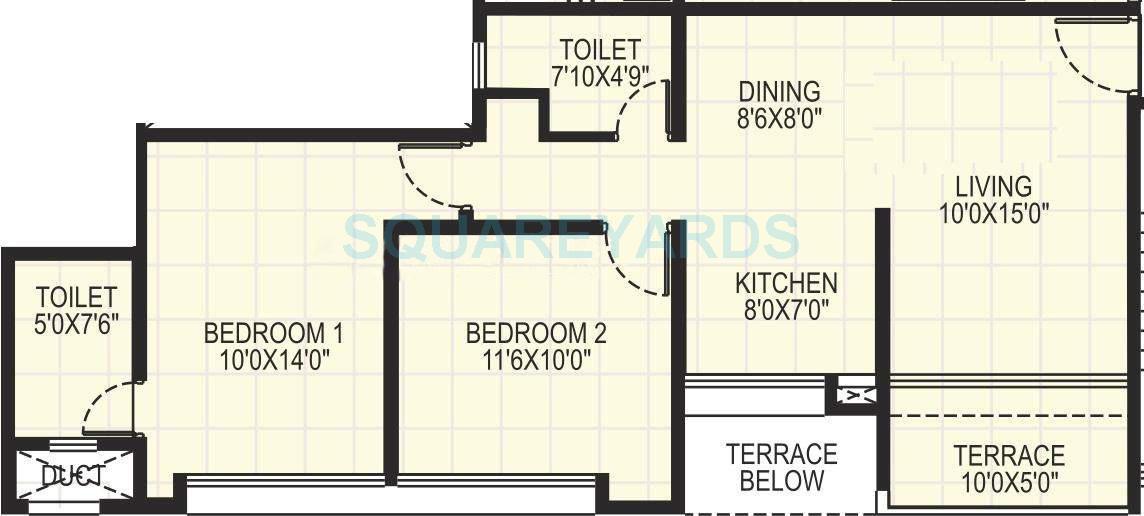 kumar pebble park apartment 2bhk 905sqft 10108