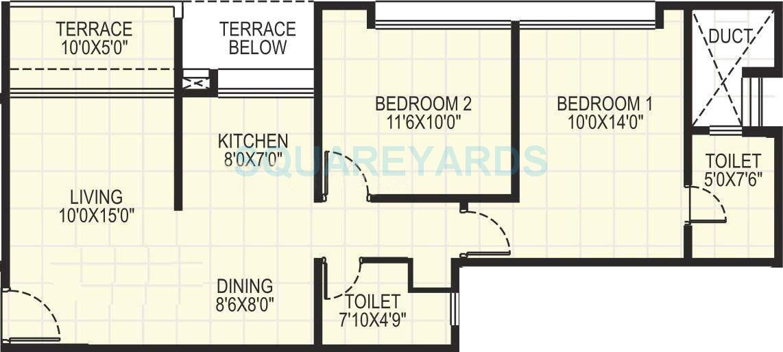 kumar pebble park apartment 2bhk 927sqft 10109