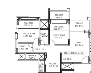kumar piccadilly apartment 2 bhk 811sqft 20204529184512