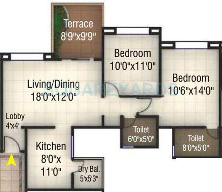 kumar pinakin apartment 2bhk 1062sqft 10511