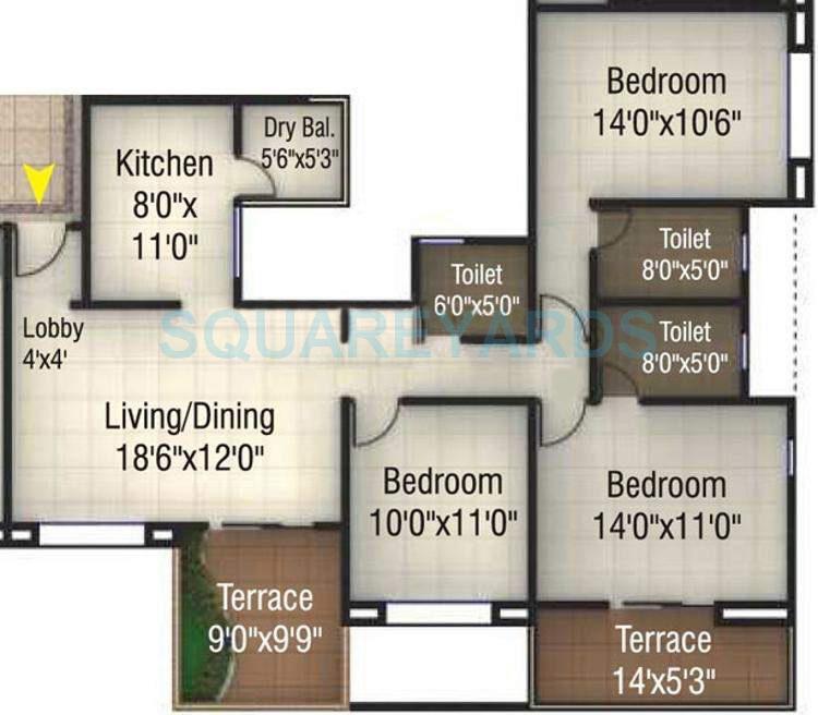 kumar pinakin apartment 3bhk 1473sqft 10513