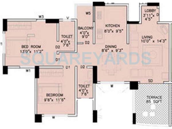 kumar urban shantiniketan phase ii apartment 2bhk 907sqft 11352