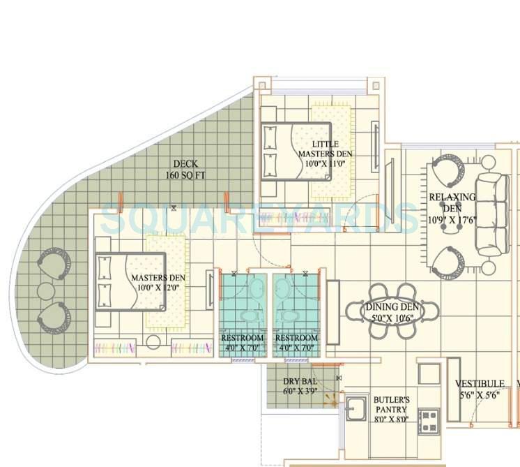 kundan spaces paradise apartment 2bhk 1096sqft 10421