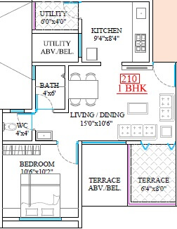 legacy lifespaces aura apartment 1bhk 485sqft 1