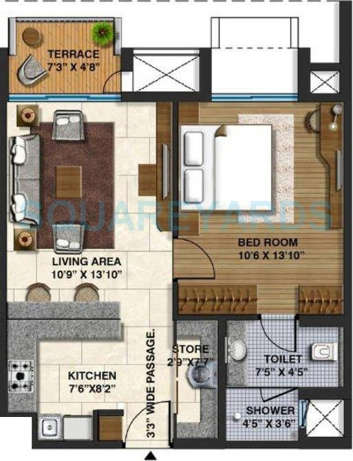 lodha belmondo apartment 1bhk 705sqft 9597