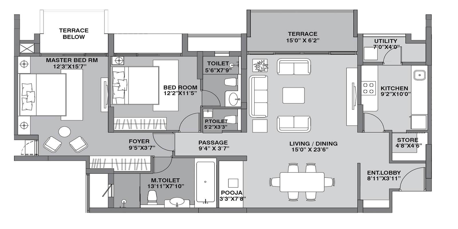 lodha belmondo apartment 2bhk 1298sqft 1