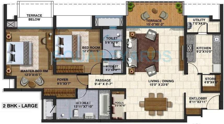 lodha belmondo apartment 2bhk 1755sqft 9602