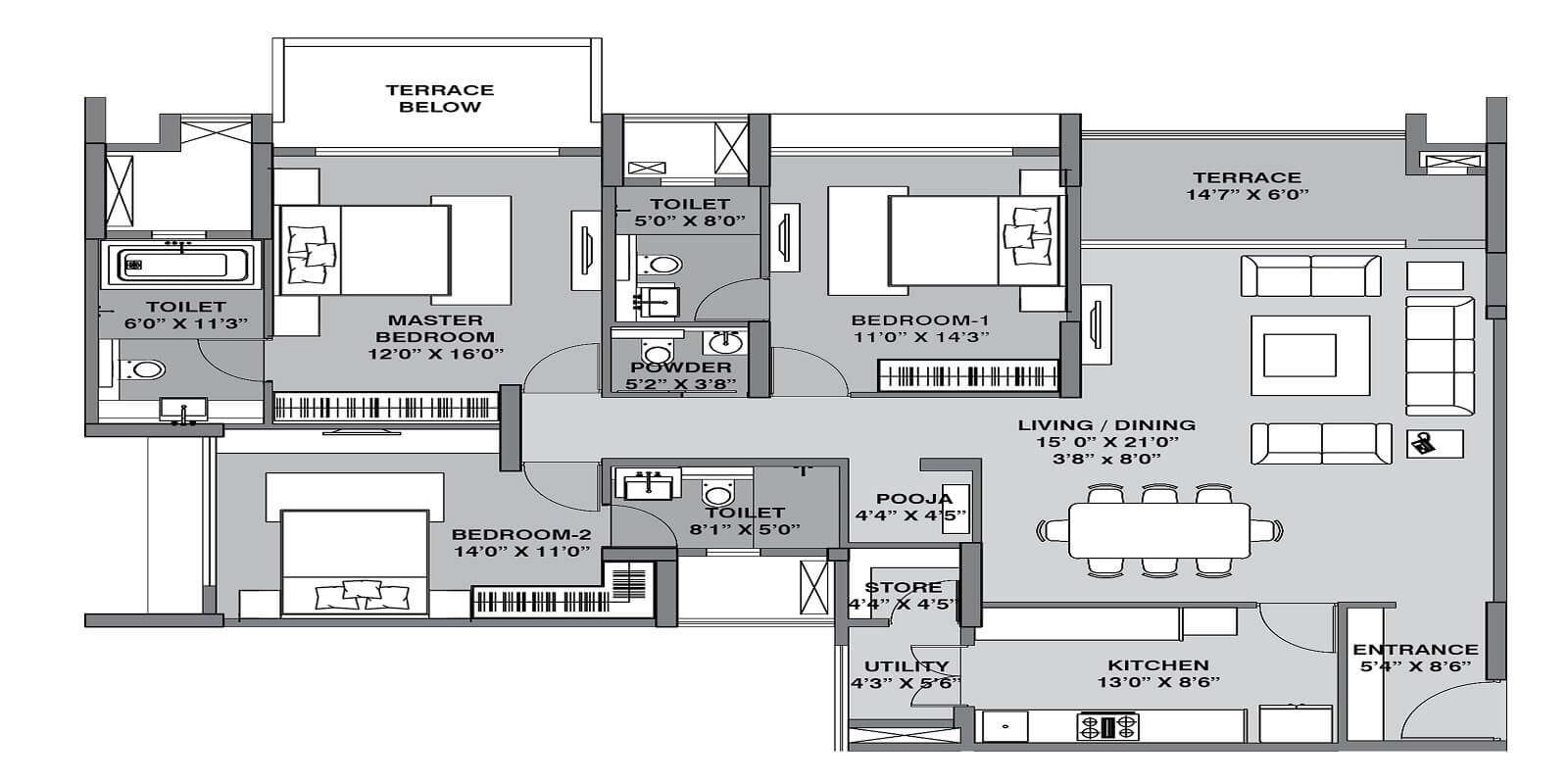 lodha belmondo apartment 3bhk 1431sqft 1
