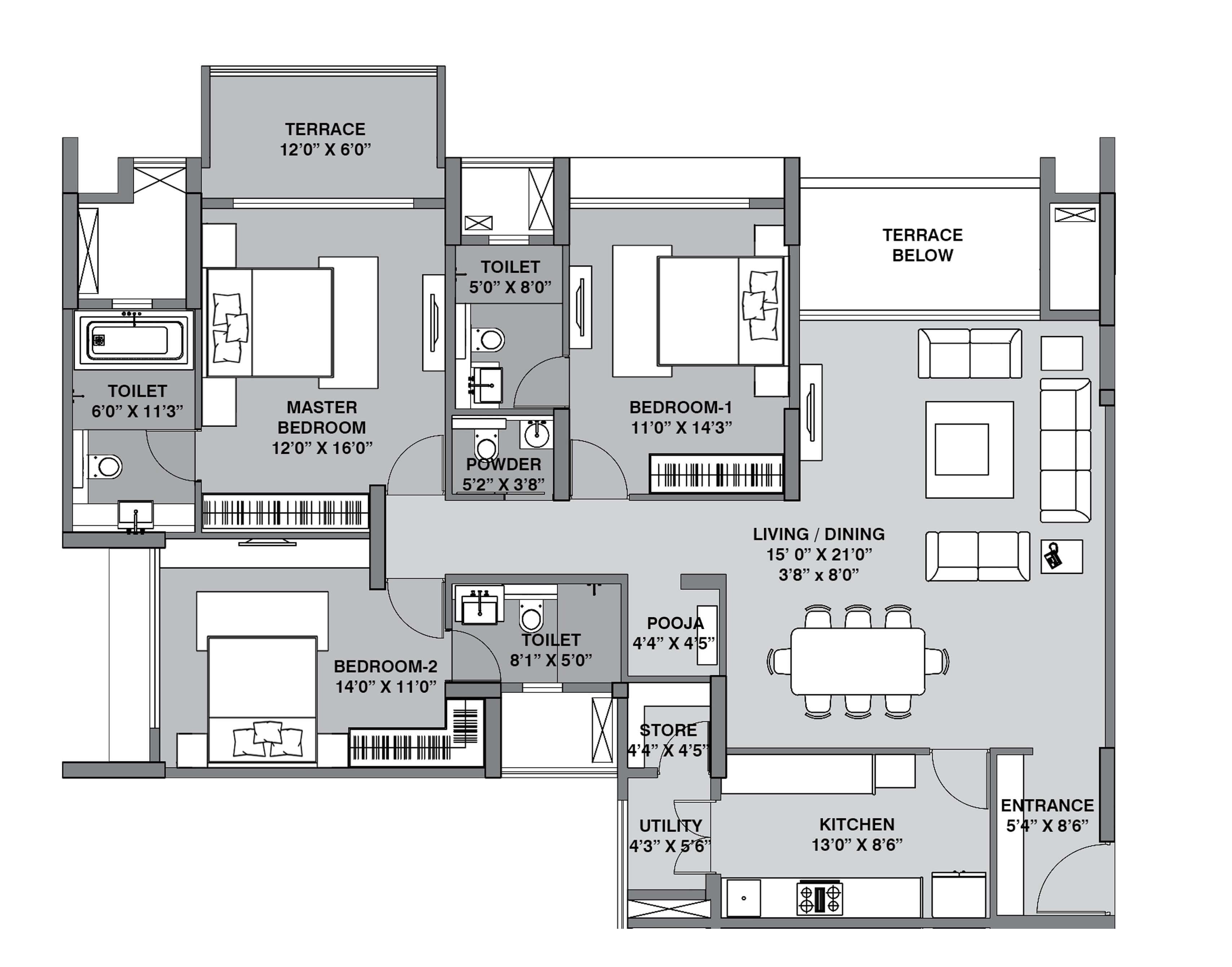 lodha belmondo apartment 3bhk 1435sqft 1
