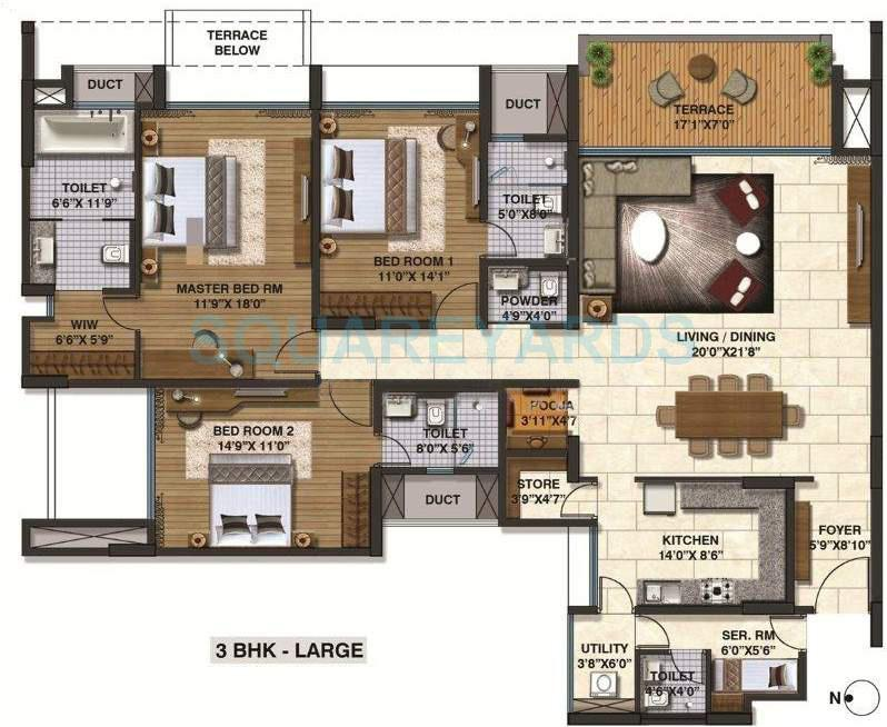 lodha belmondo apartment 3bhk 2376sqft 9606