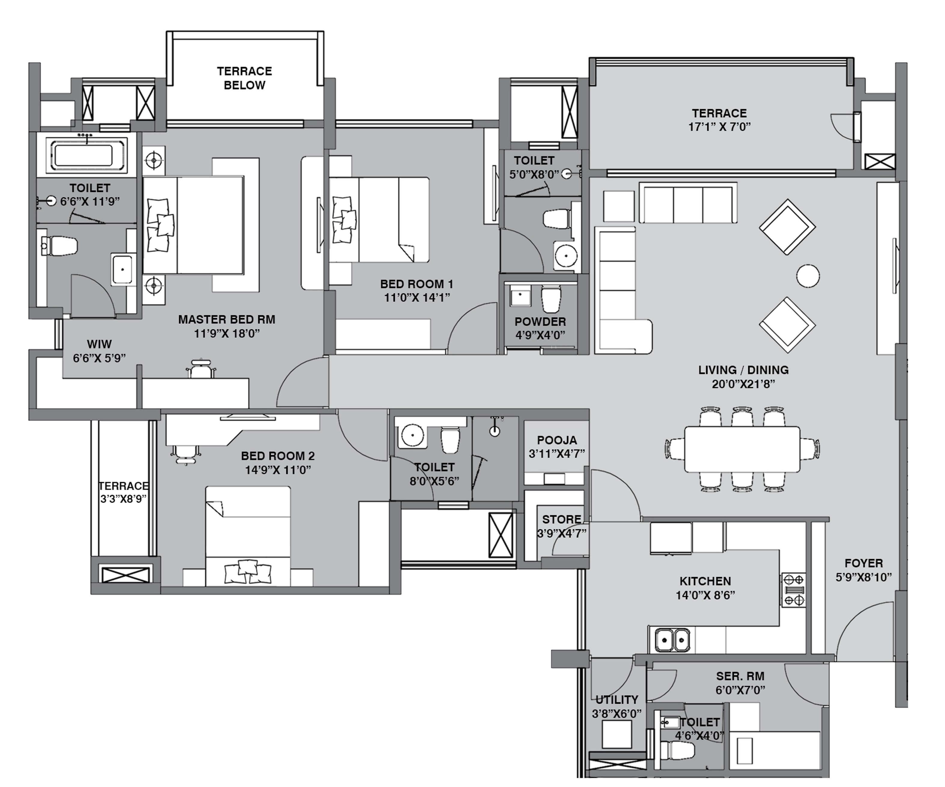 lodha belmondo apartment 3bhk sq 1751sqft 1