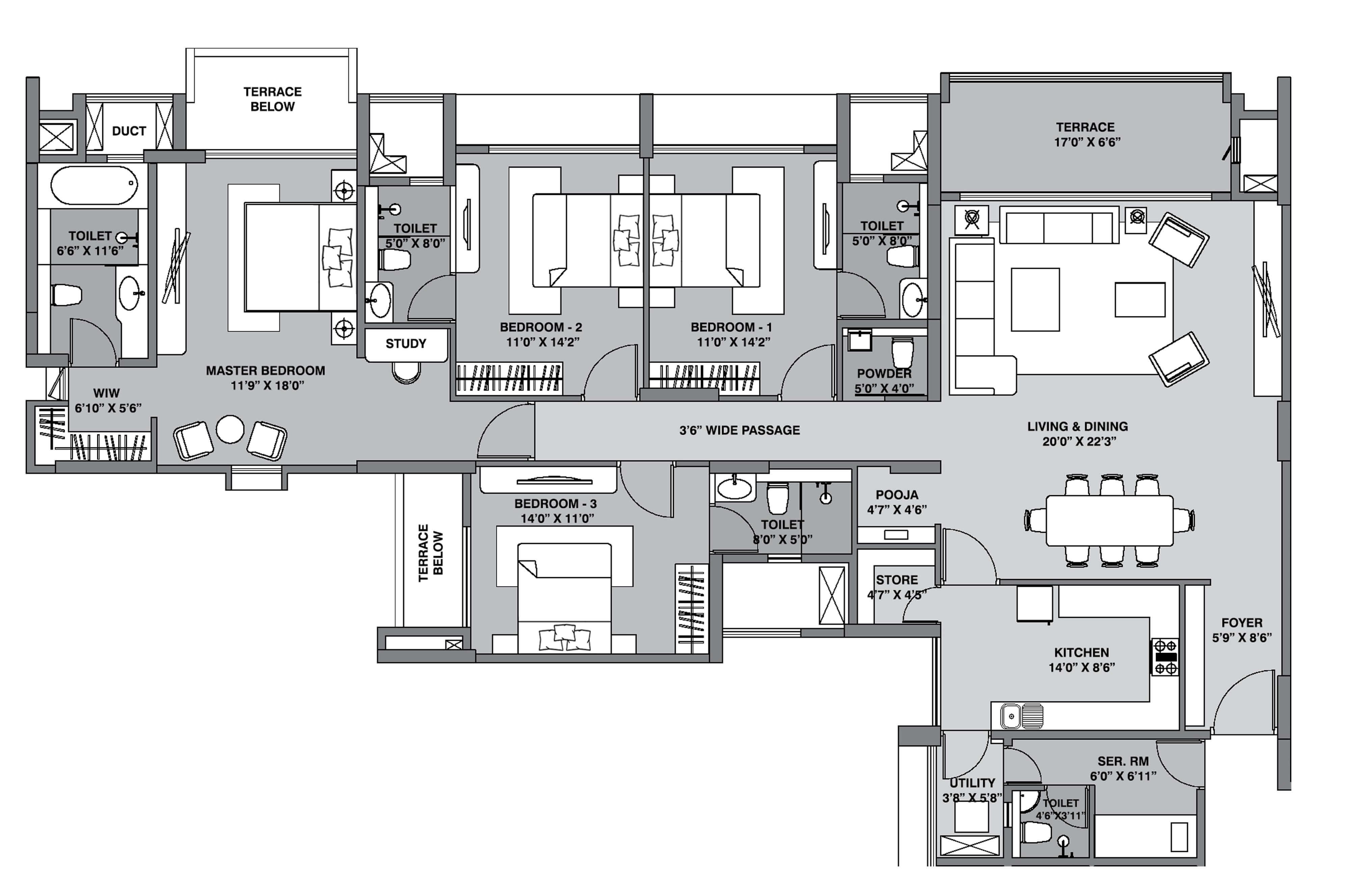 lodha belmondo apartment 4bhk sq 2030sqft 1