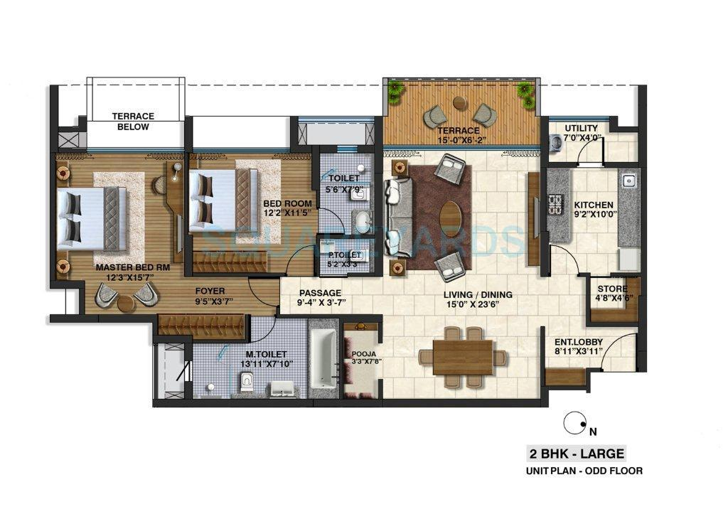 lodha riviera apartment 2bhk 1341sqft 1