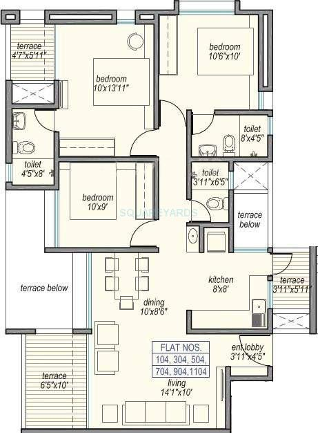 loharuka group little earth apartment 3bhk 1176sqft 10372