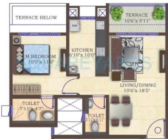 mahindra lifespaces antheia apartment 1bhk 695sqft 11128