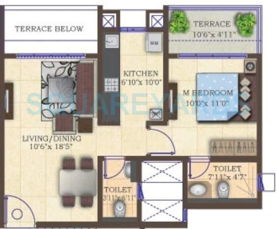 mahindra lifespaces antheia apartment 1bhk 710sqft 11130