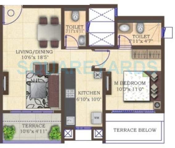 mahindra lifespaces antheia apartment 1bhk 718sqft 11131