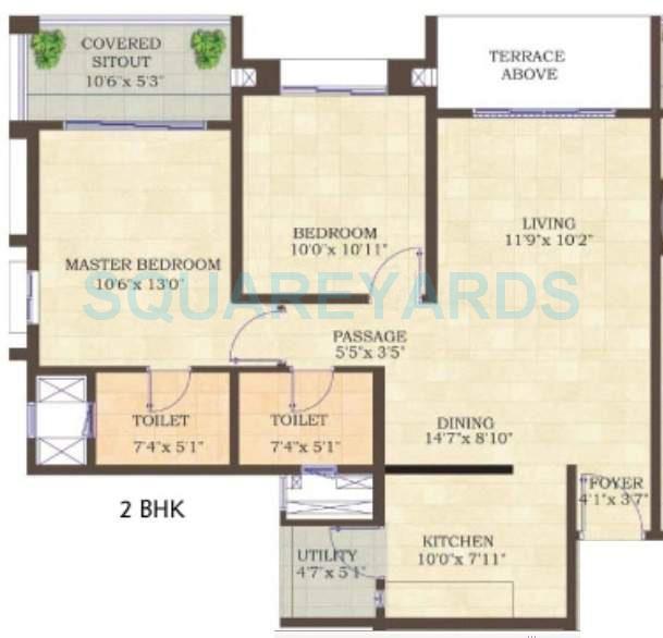 mahindra lifespaces antheia apartment 2bhk 1050sqft 11132