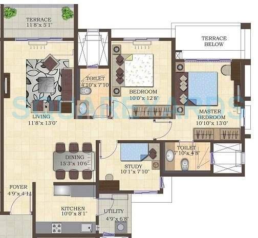 mahindra lifespaces antheia apartment 2bhk 1335sqft 11133