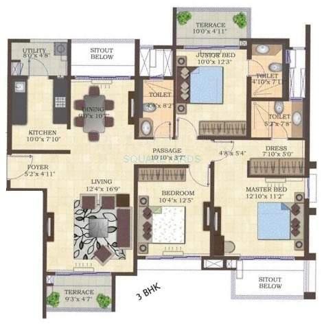 mahindra lifespaces antheia apartment 3bhk 1560sqft 11134