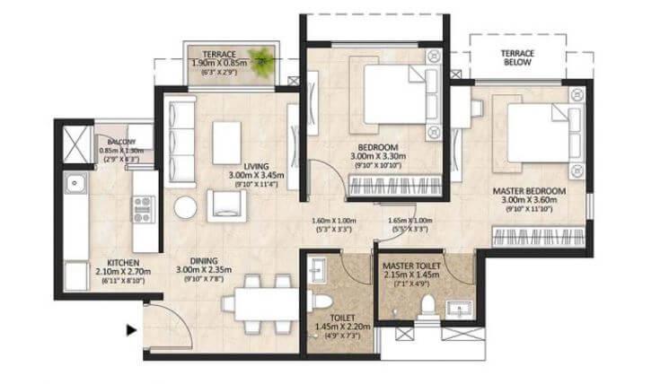 mahindra lifespaces centralis apartment 2bhk 531sqft 2