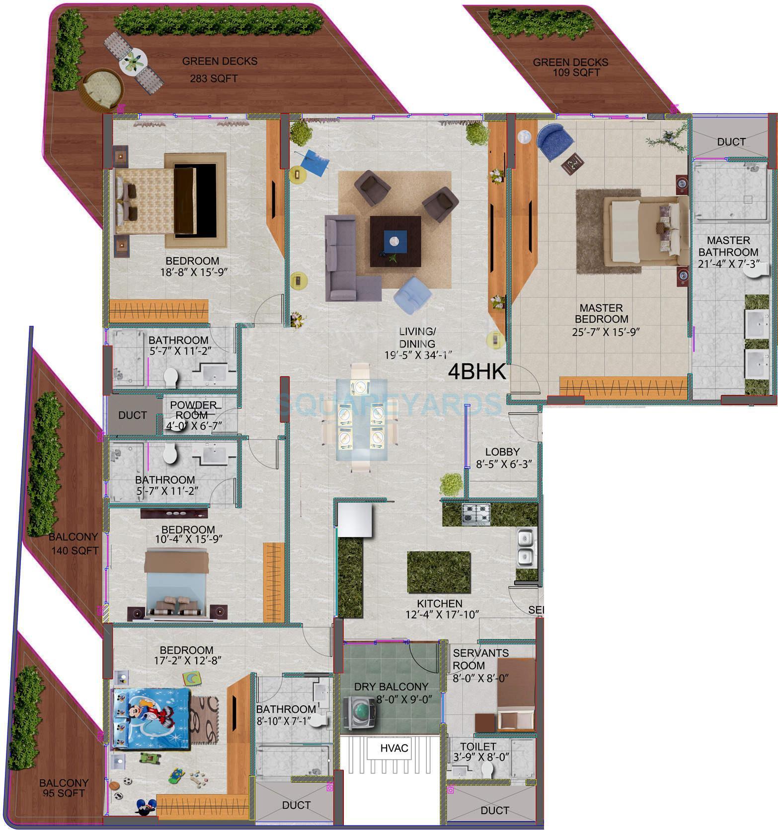 mahindra lifespaces l artista apartment 4 bhk 3265sqft 20201320121300