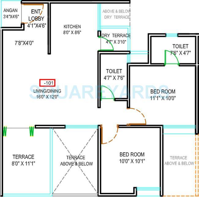 majestique landmark euriska apartment 2bhk 1065sqft 9618