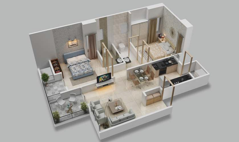 majestique memories 90 phase 1 apartment 2 bhk 512sqft 20200620170638