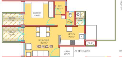 mantra 29 gold coast apartment 1bhk 660sqft 1