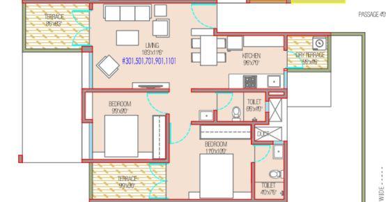 mantra 29 gold coast apartment 2bhk 880sqft 1