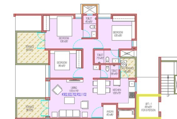 mantra 29 gold coast apartment 3bhk 1191sqft 1