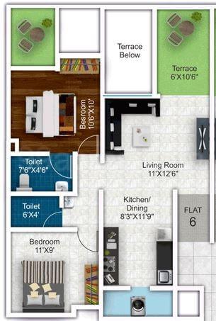 mantra insignia apartment 2bhk 979sqft 1