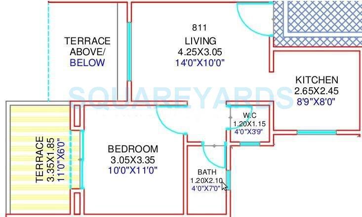 mantra moments apartment 1bhk 609sqft 10491
