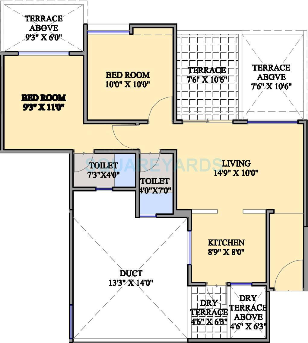 mantra moments apartment 2bhk 917sqft 10497