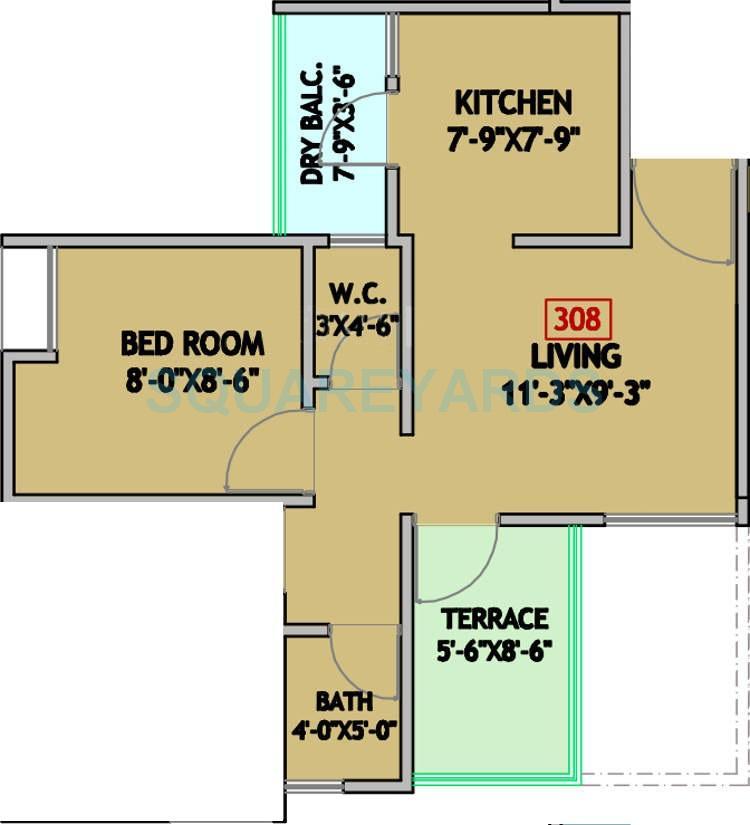 mantra residency apartment 2bhk 674sqft 1