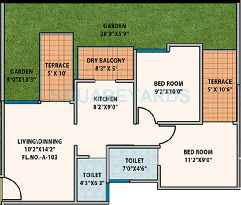 mantra senses apartment 2bhk 1067sqft 10381
