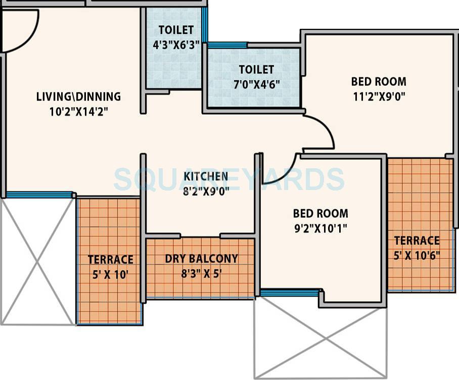mantra senses apartment 2bhk 919sqft 10378