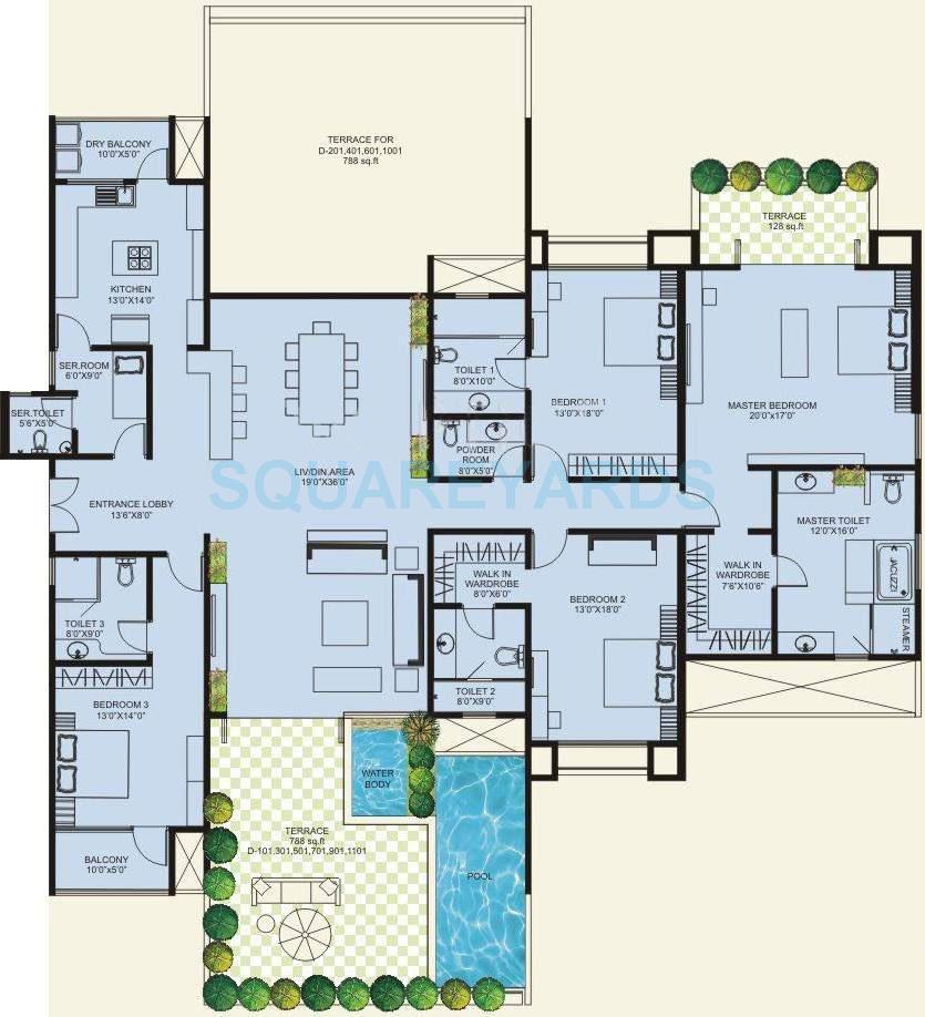 marvel bounty apartment 4bhk 4800sqft 10168