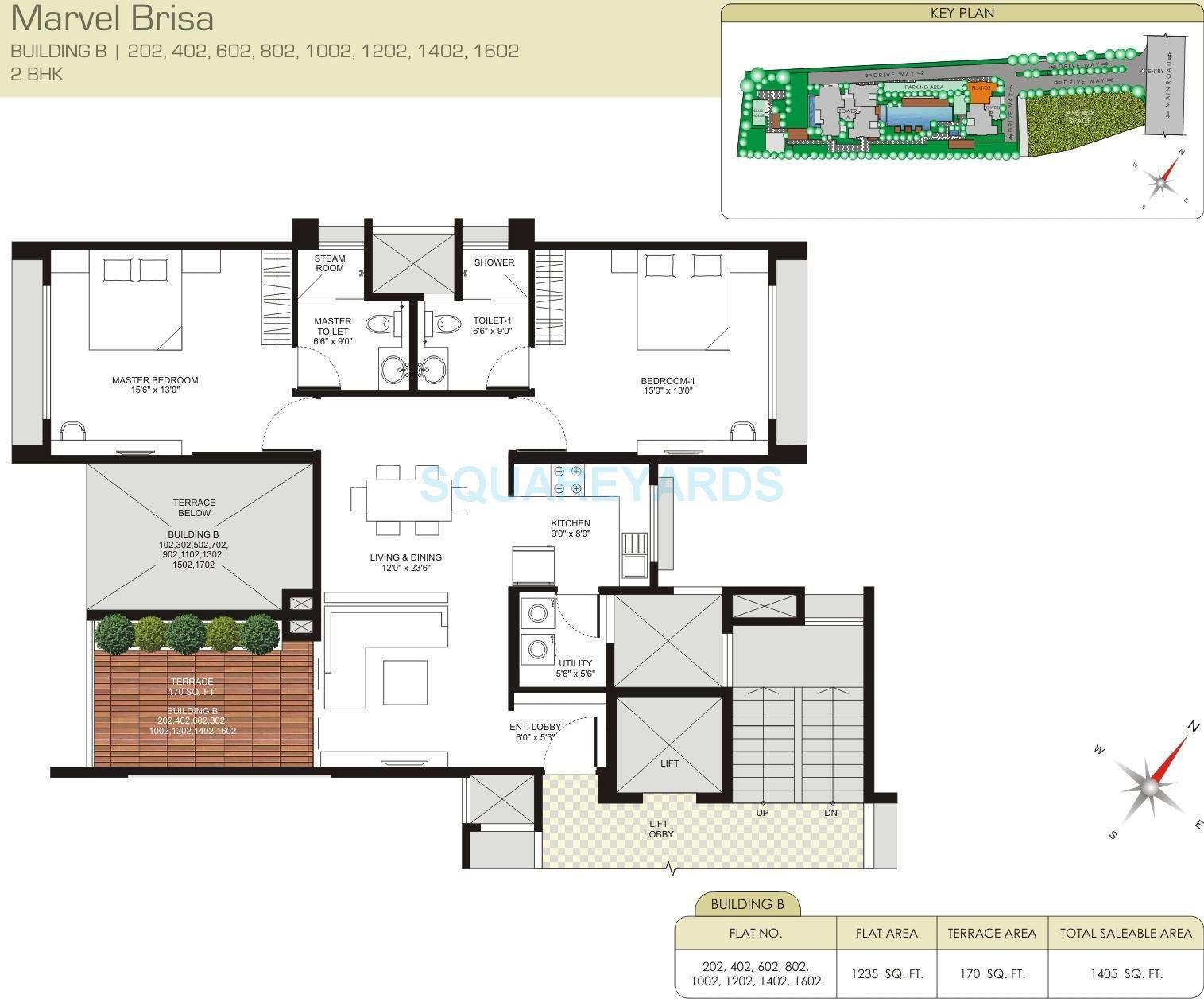 marvel brisa apartment 2bhk 1405sqft 10914