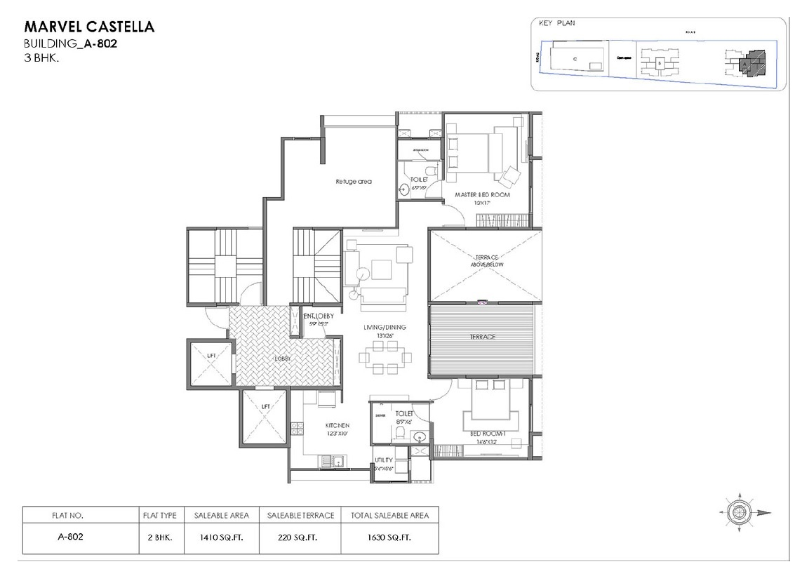 marvel castella apartment 2bhk 1630sqft 1