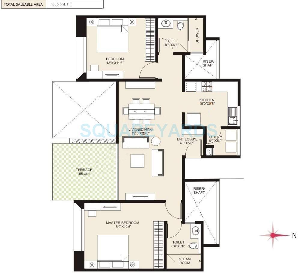 marvel cerise apartment 2bhk 1335sqft 9889