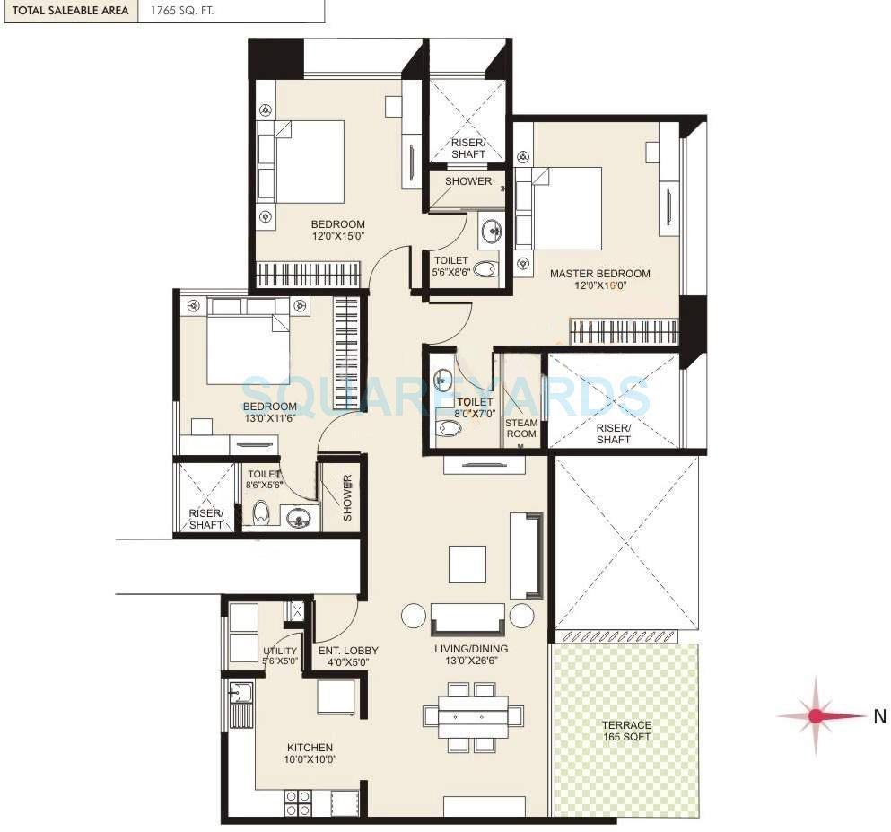 marvel cerise apartment 3bhk 1765sqft 9892