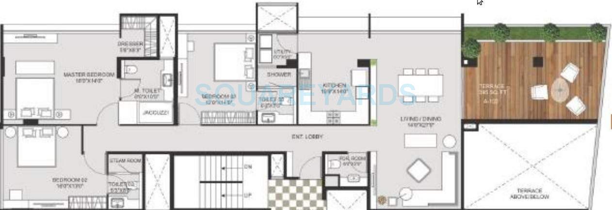marvel crest apartment 3bhk 2405sqft 11058